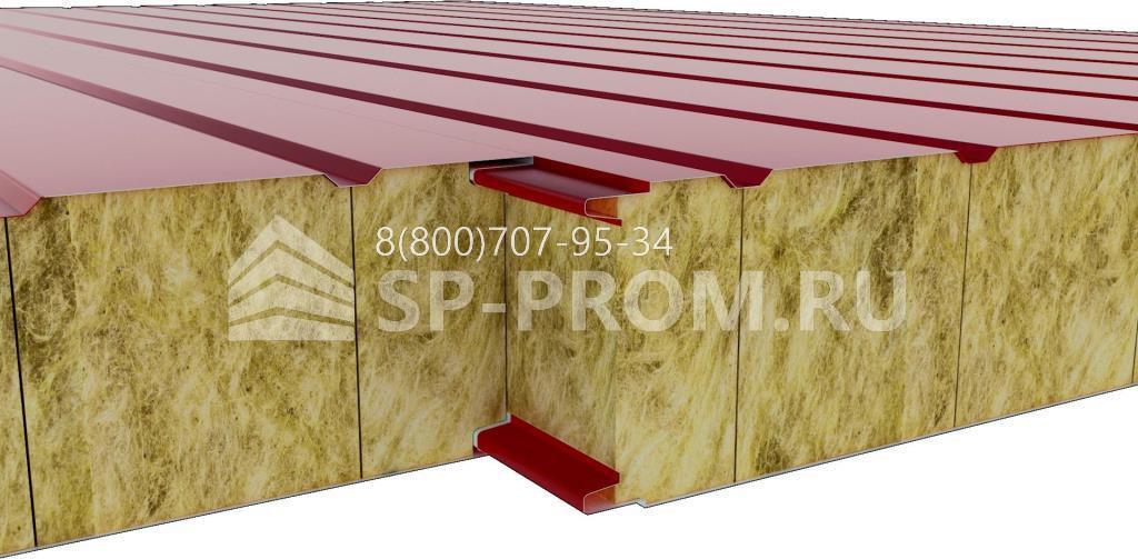 Соединение стеновых панелей из минеральной ваты