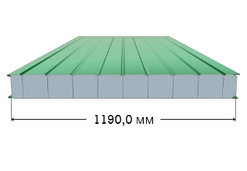 Стеновая панель с полистироловым наполнением и оцинкованной сталью 0,5/0,5 мм с полимерным покрытием